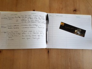 Visitors' Book 2017